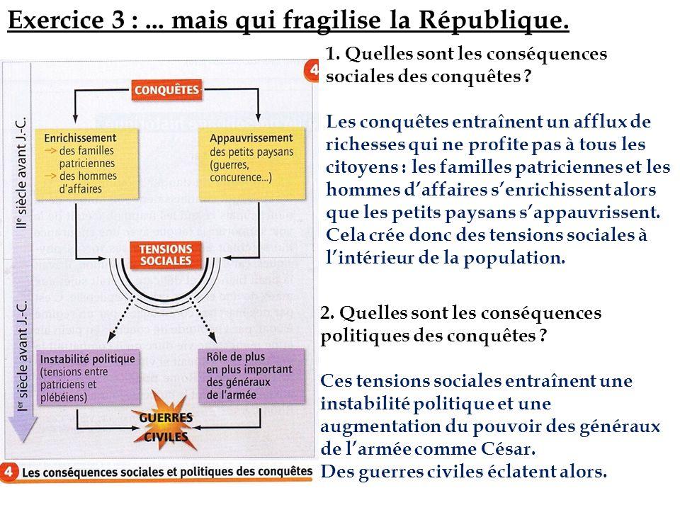 Exercice 3 : ... mais qui fragilise la République.