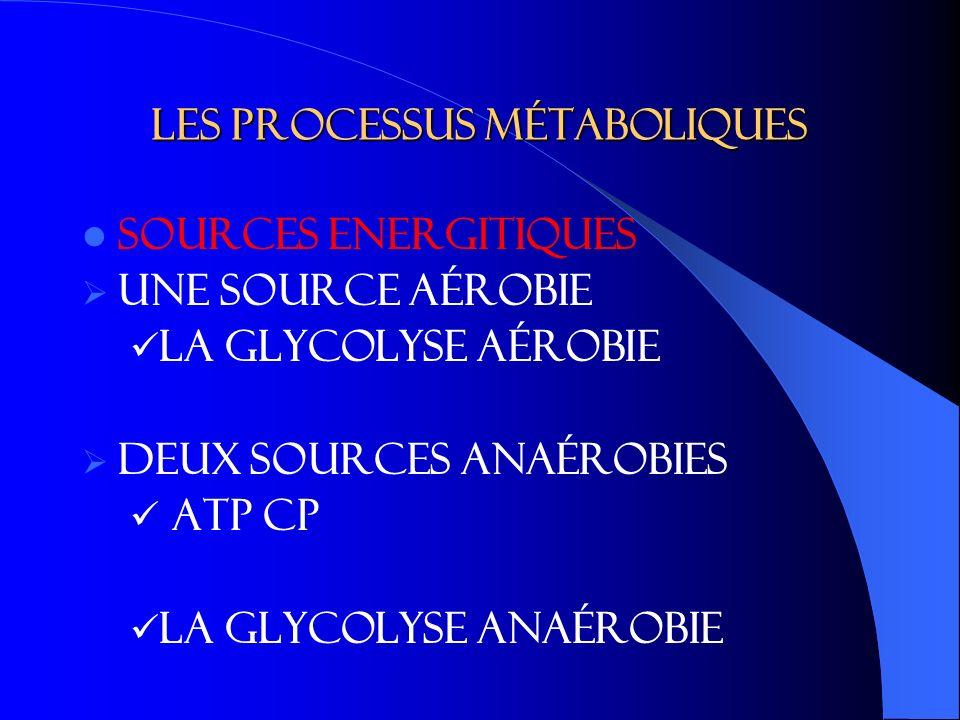 Les processus métaboliques