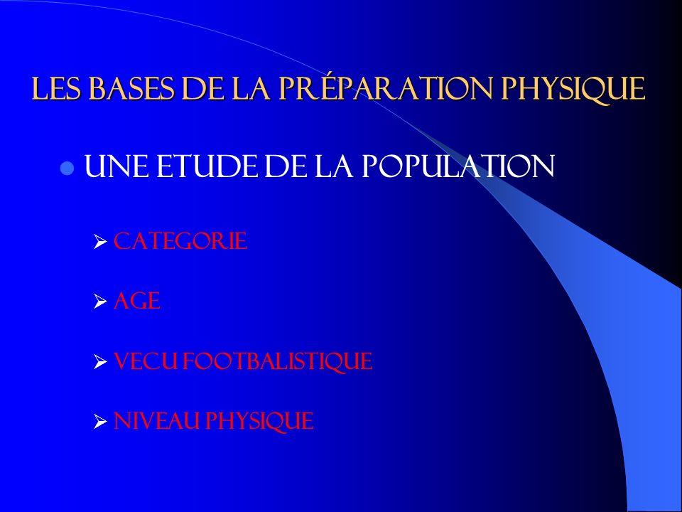 LES BASES DE LA PRéPARATION PHYSIQUE