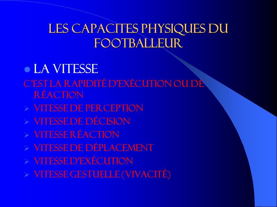 Les capacites physiques du footballeur