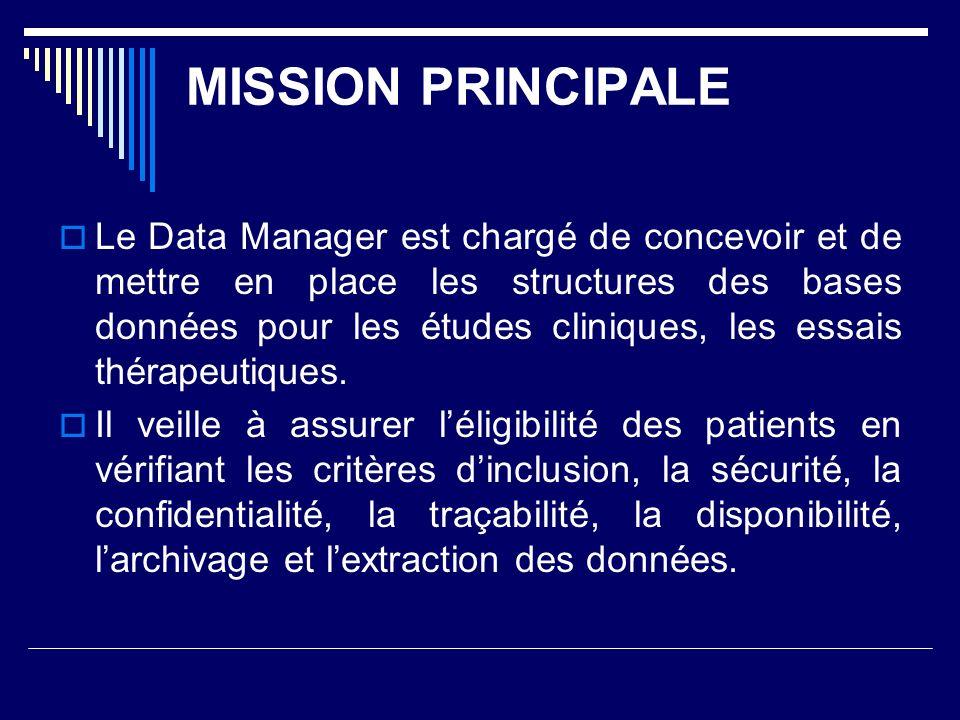 MISSION PRINCIPALE