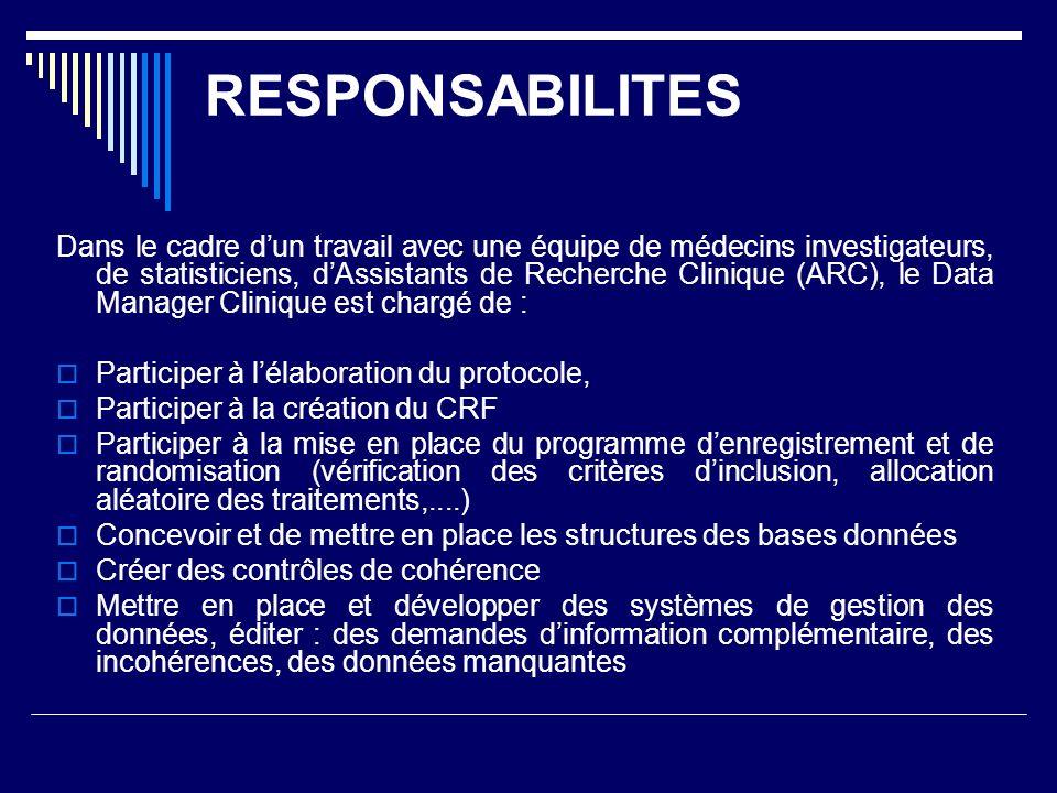RESPONSABILITES