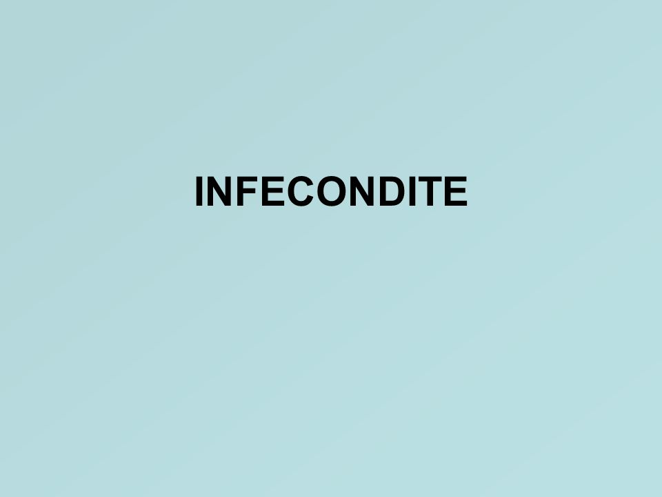INFECONDITE