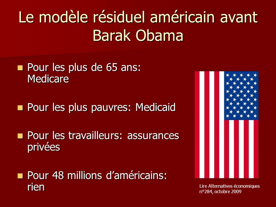 Le modèle résiduel américain avant Barak Obama