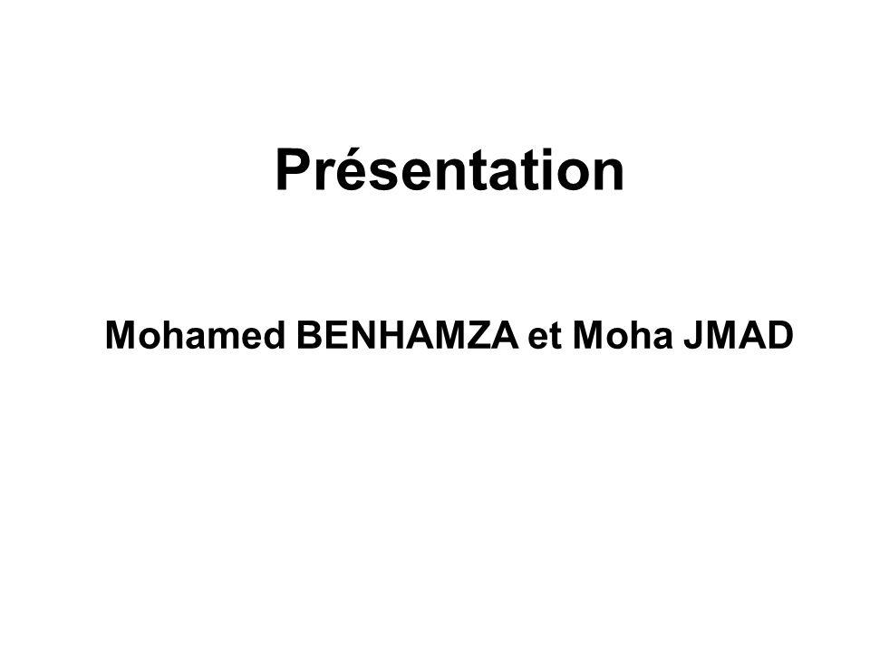 Mohamed BENHAMZA et Moha JMAD