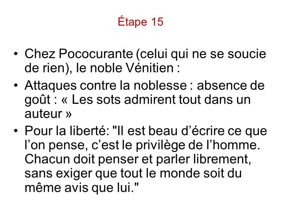 Chez Pococurante (celui qui ne se soucie de rien), le noble Vénitien :