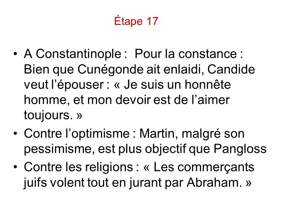 Étape 17
