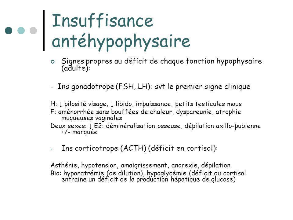 Insuffisance antéhypophysaire