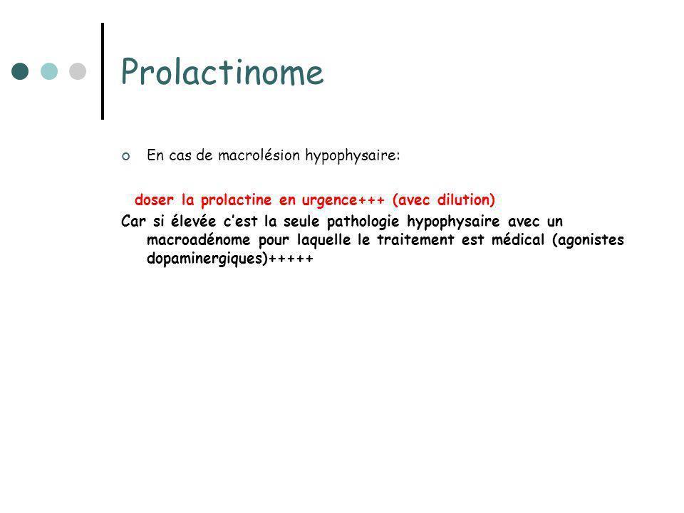 Prolactinome En cas de macrolésion hypophysaire: