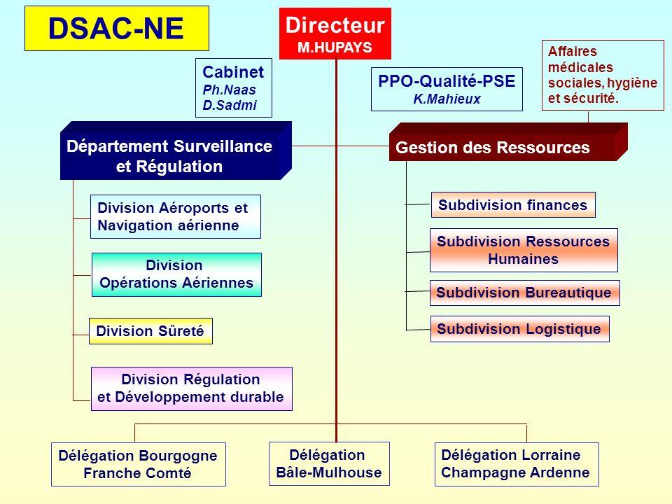 DSAC-NE Directeur Cabinet PPO-Qualité-PSE Département Surveillance