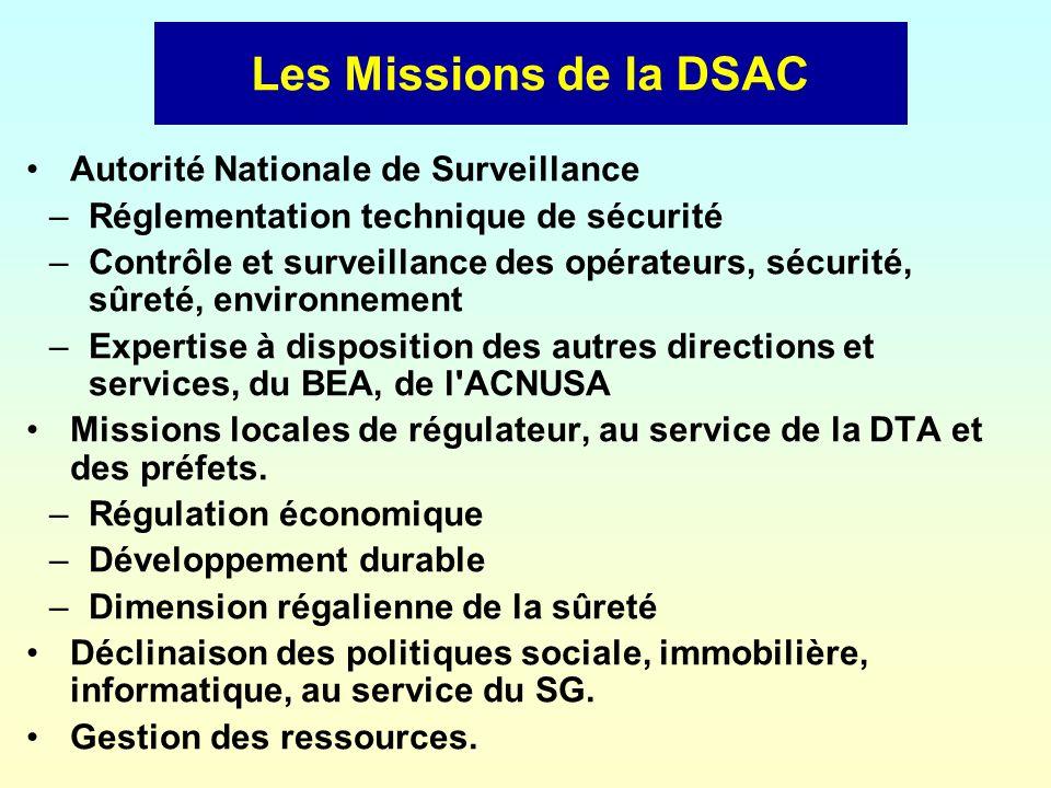 Les Missions de la DSAC Autorité Nationale de Surveillance