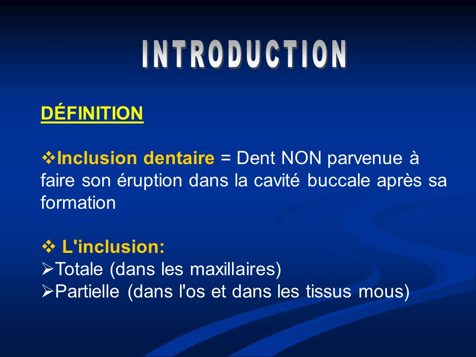 INTRODUCTION DÉFINITION