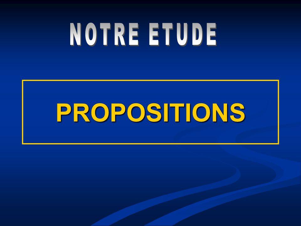 NOTRE ETUDE PROPOSITIONS
