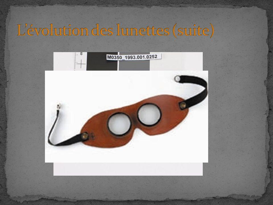 L'évolution des lunettes (suite)