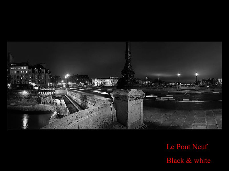 Le Pont Neuf Black & white