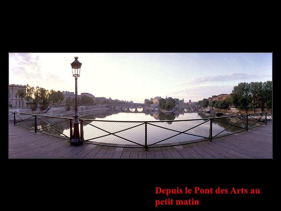 Depuis le Pont des Arts au petit matin