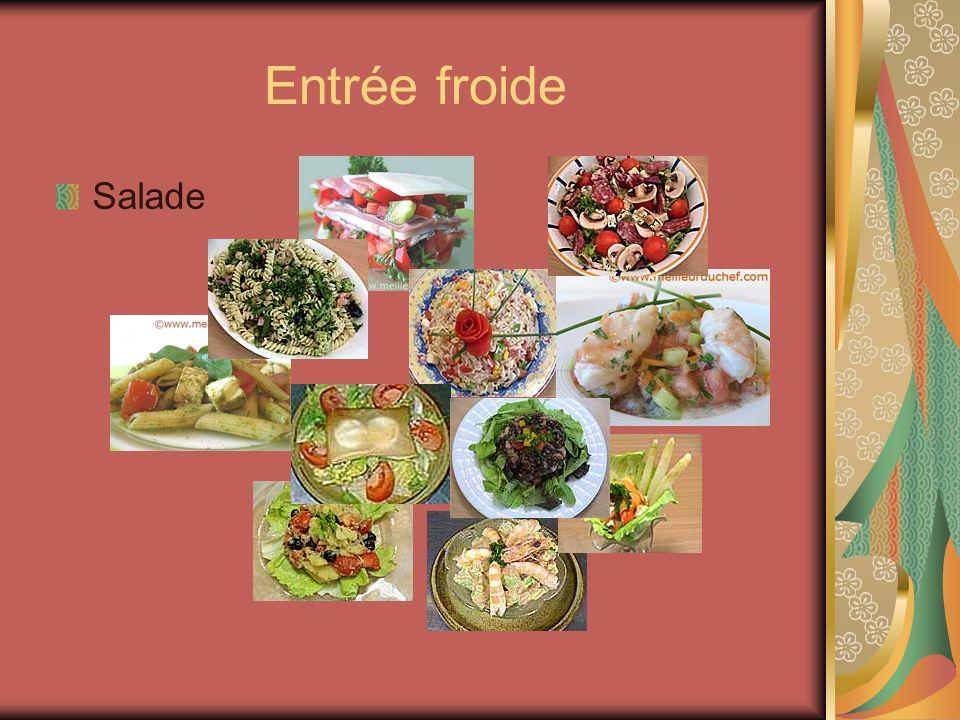 Entrée froide Salade