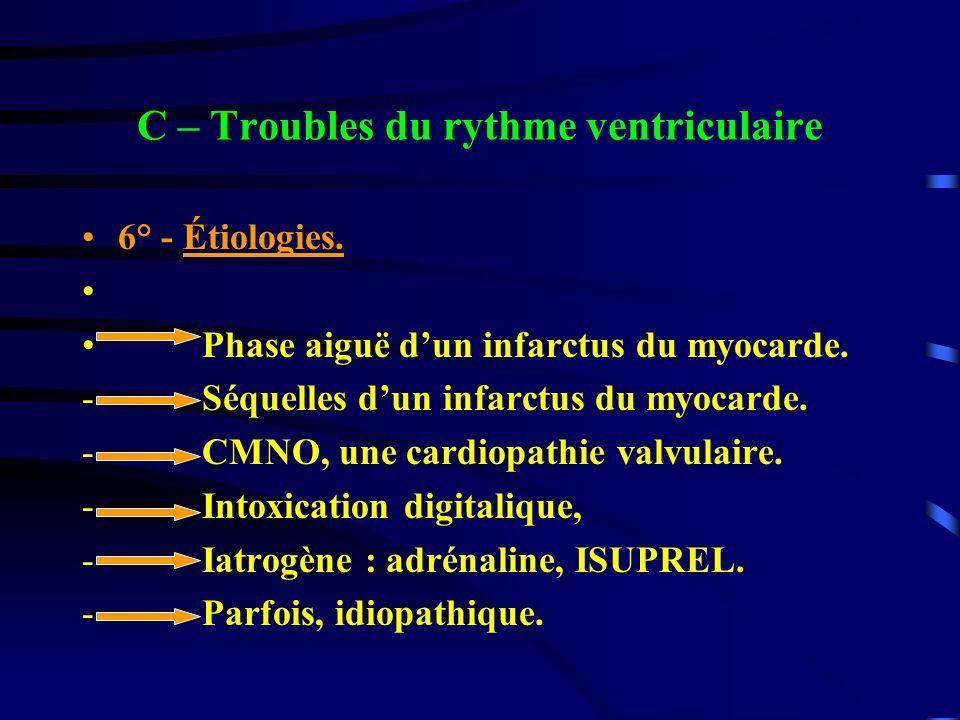 C – Troubles du rythme ventriculaire