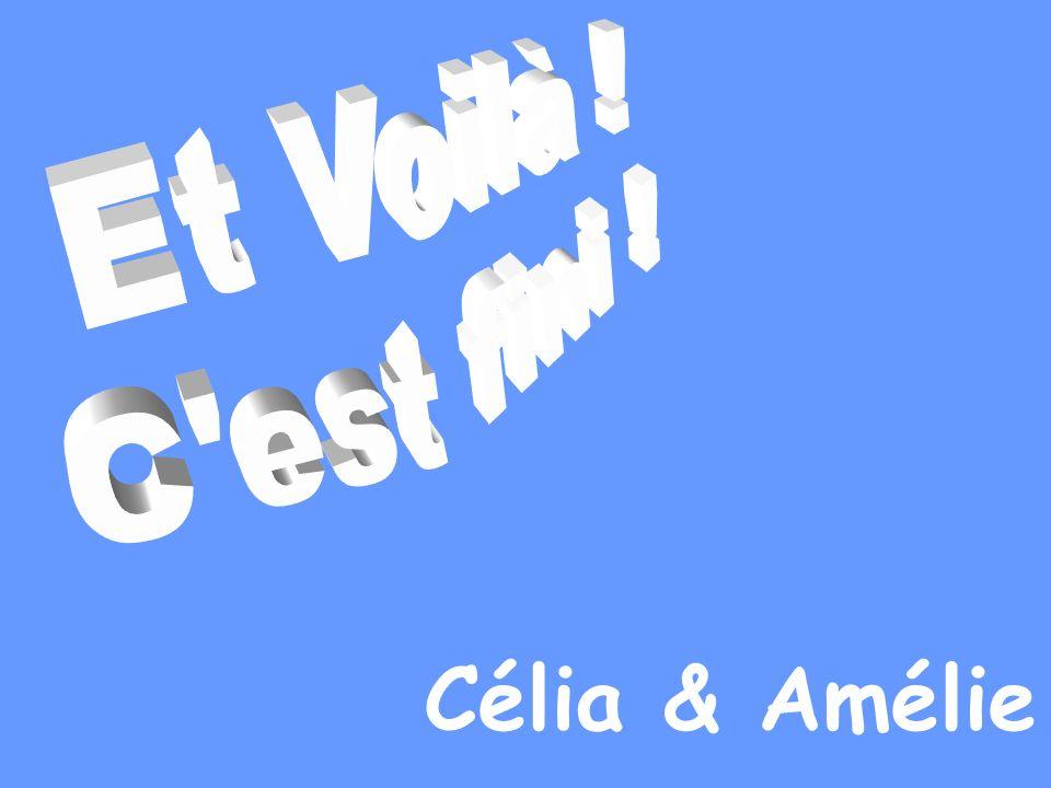 Et Voilà ! C est fini ! Célia & Amélie