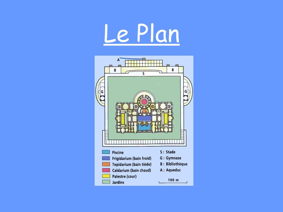 Les thermes romains c lia et am lie ppt video online for Les plans de lowe
