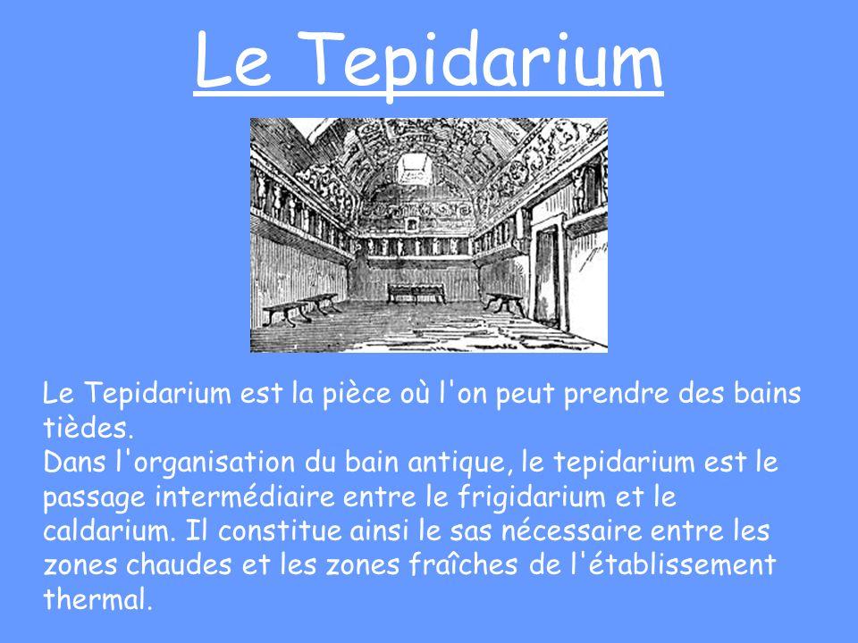 Le TepidariumLe Tepidarium est la pièce où l on peut prendre des bains tièdes.