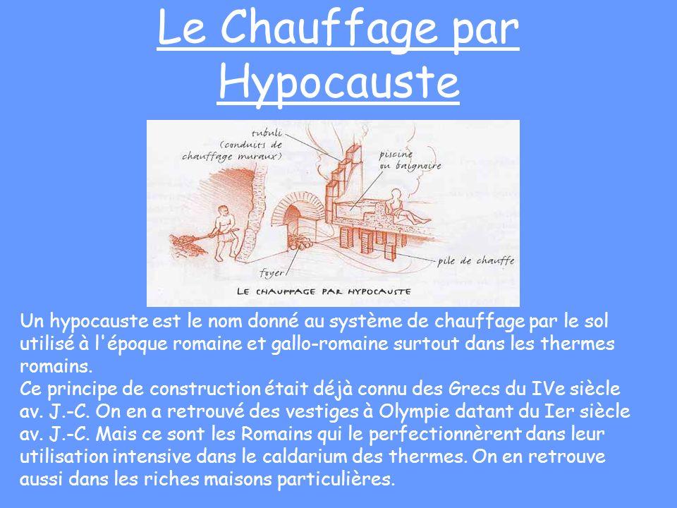 Le Chauffage par Hypocauste