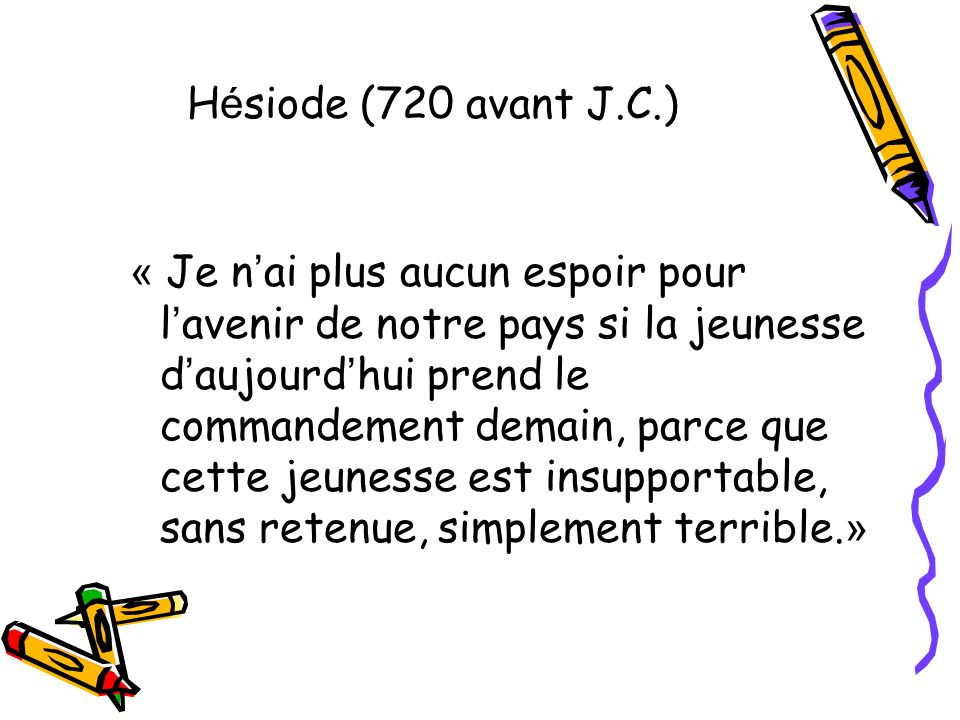 Hésiode (720 avant J.C.)