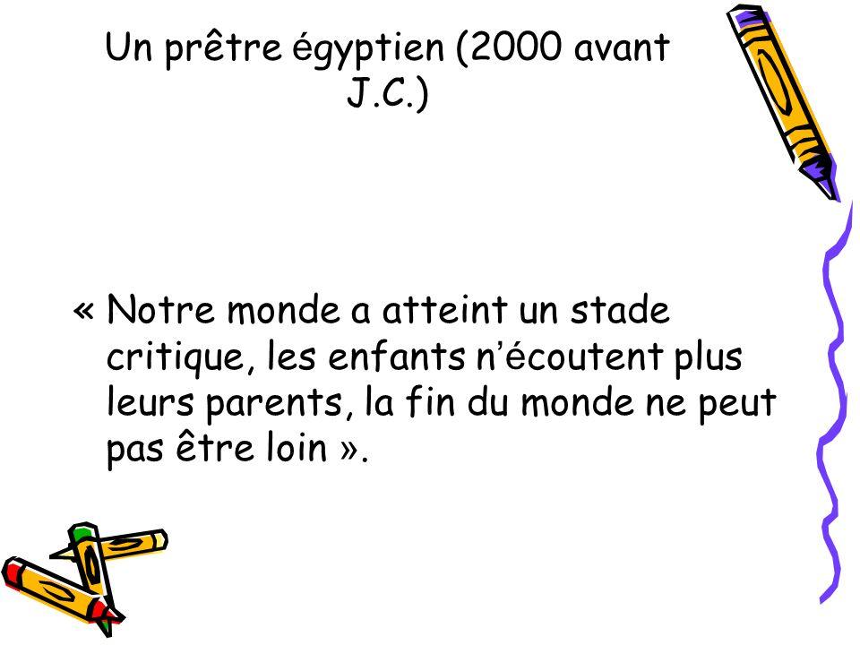 Un prêtre égyptien (2000 avant J.C.)