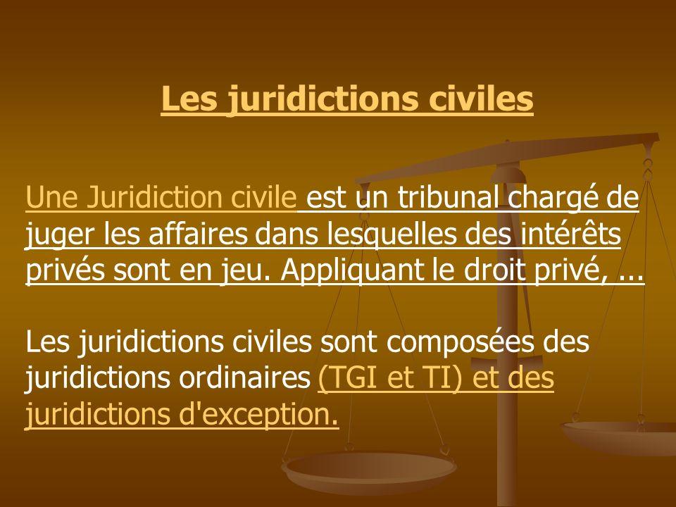 Les juridictions civiles