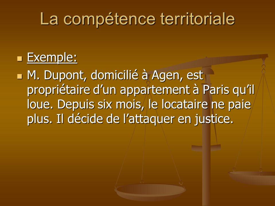 La compétence territoriale