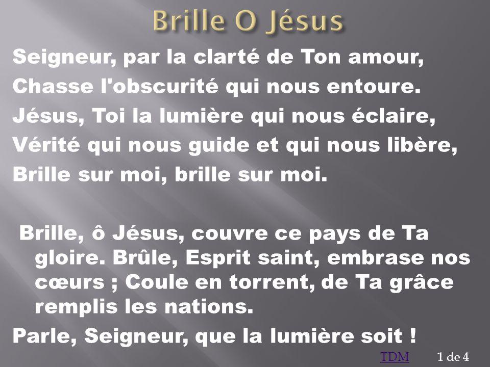 Brille O Jésus Seigneur, par la clarté de Ton amour,