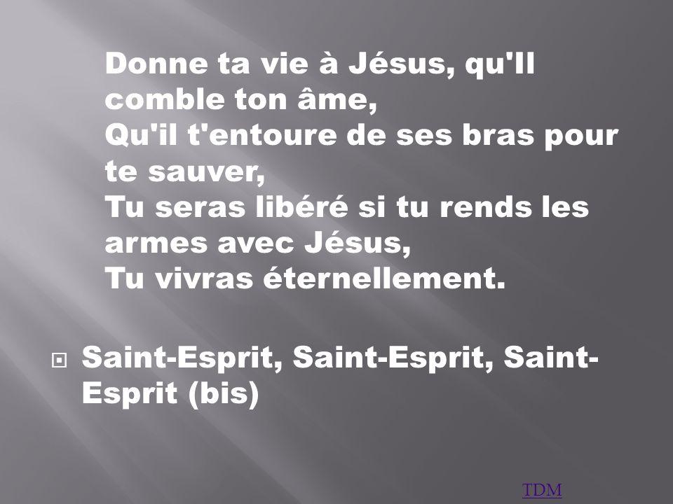 Saint-Esprit, Saint-Esprit, Saint-Esprit (bis)