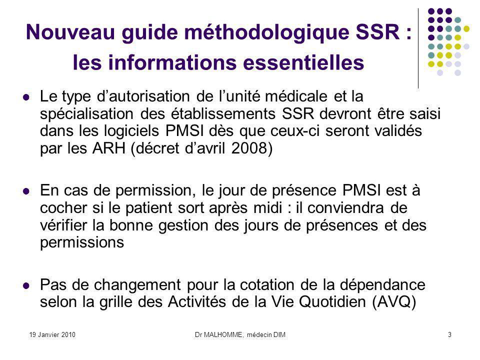 Nouveau guide méthodologique SSR : les informations essentielles