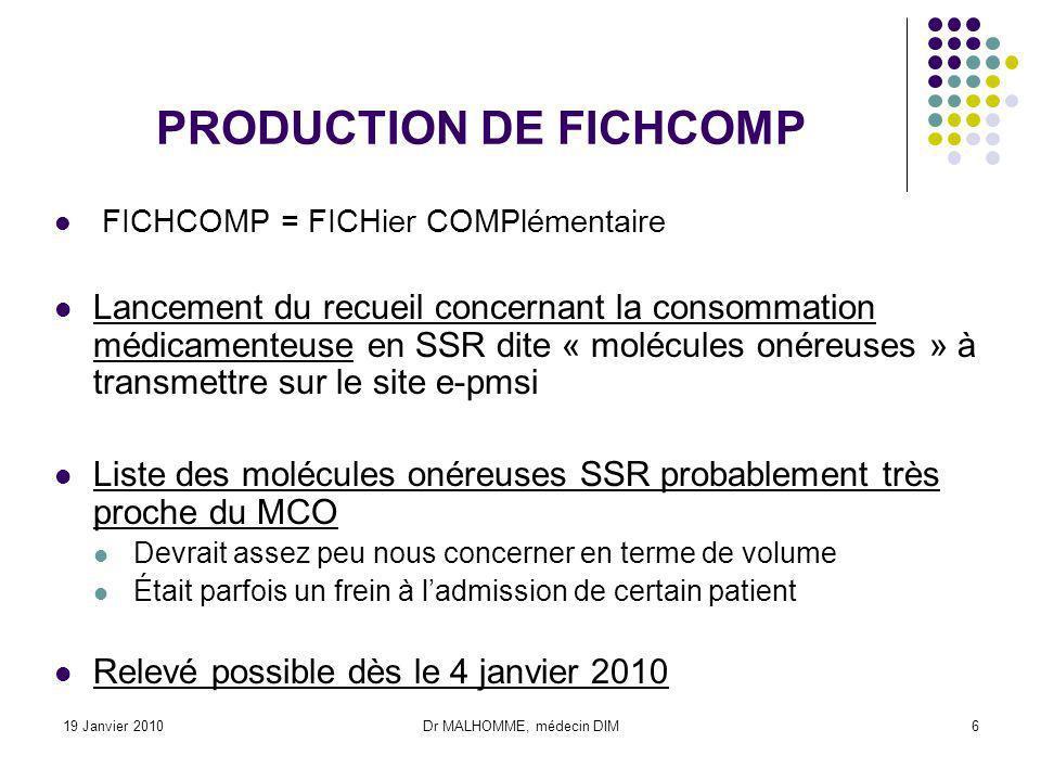 PRODUCTION DE FICHCOMP