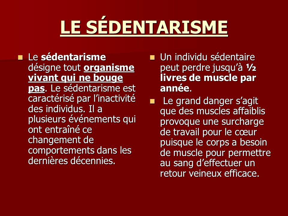 LE SÉDENTARISME