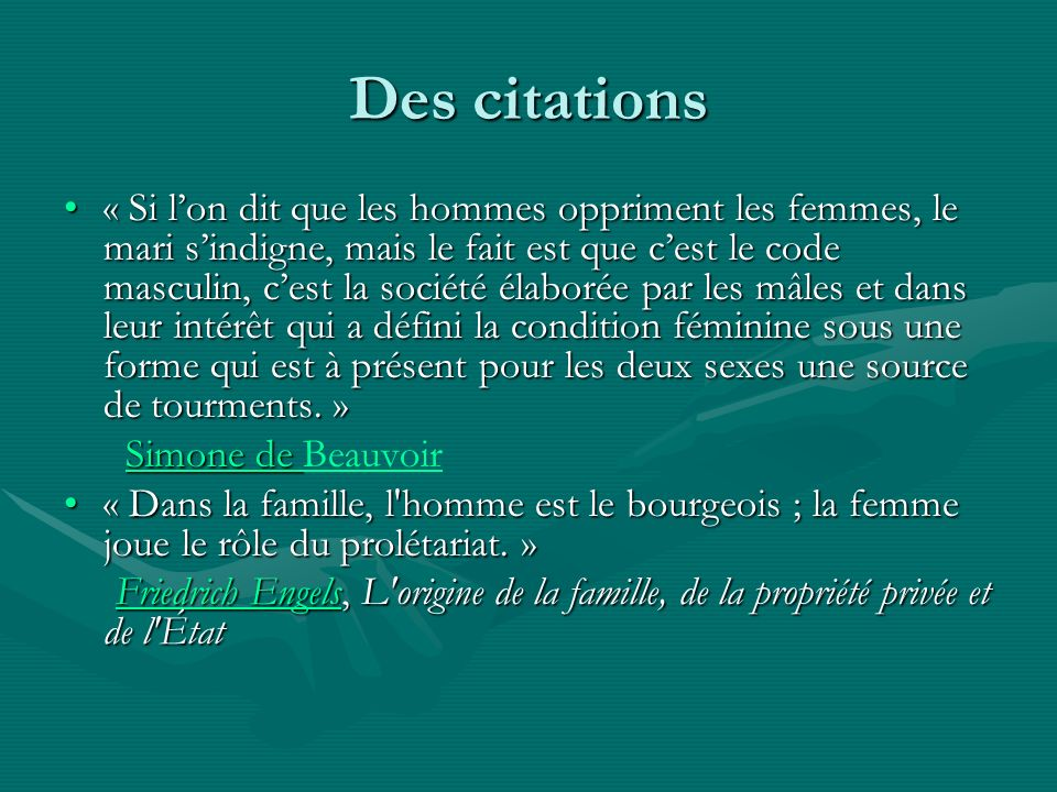 Des citations