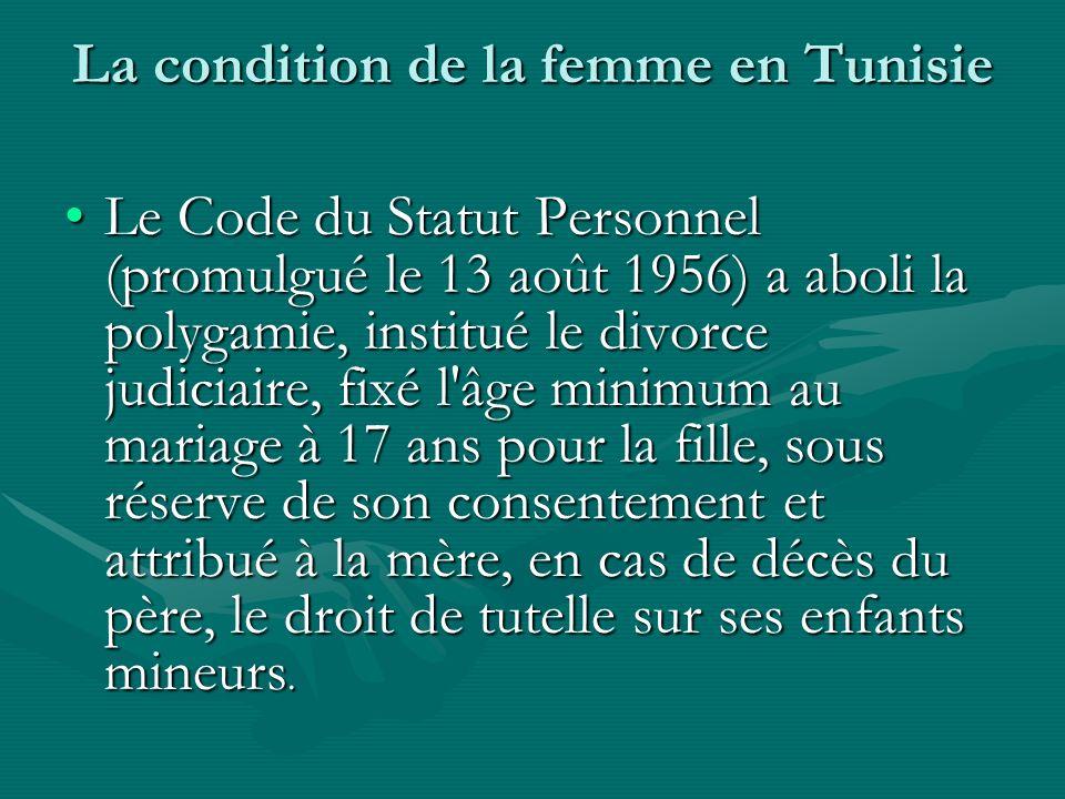 La condition de la femme en Tunisie