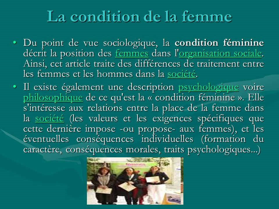 La condition de la femme