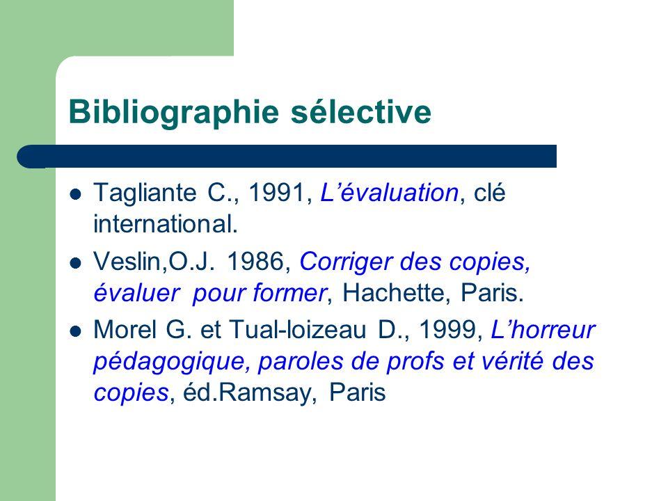 Bibliographie sélective