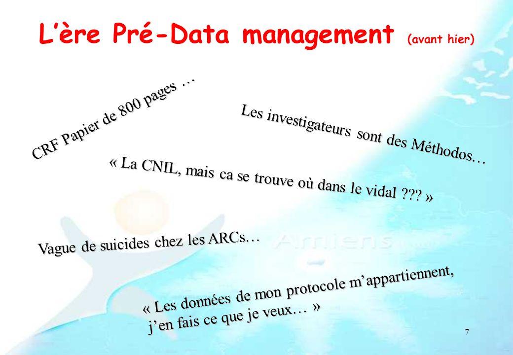 L'ère Pré-Data management (avant hier)
