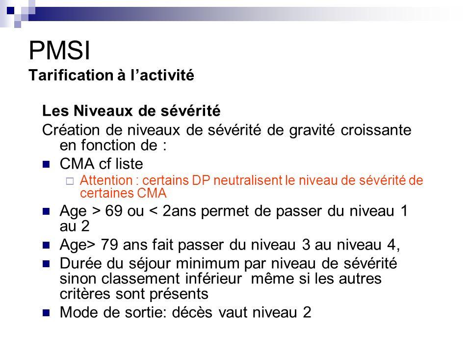 PMSI Tarification à l'activité