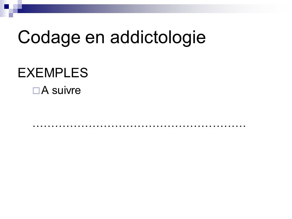 Codage en addictologie