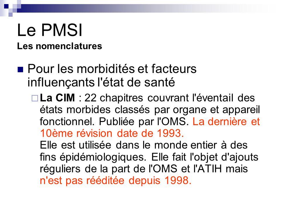 Le PMSI Les nomenclatures
