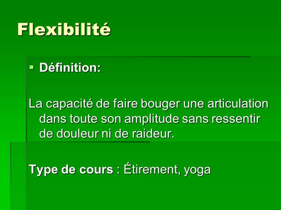 Flexibilité Définition: