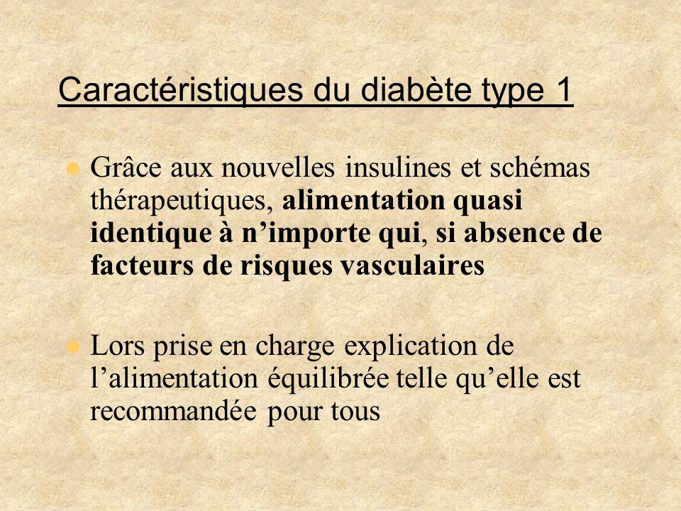 Caractéristiques du diabète type 1