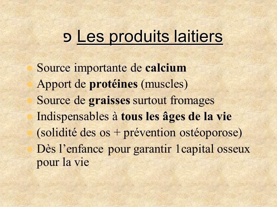 פ Les produits laitiers