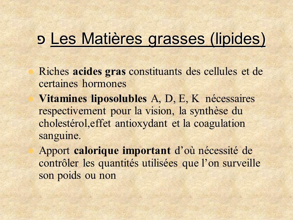 פ Les Matières grasses (lipides)