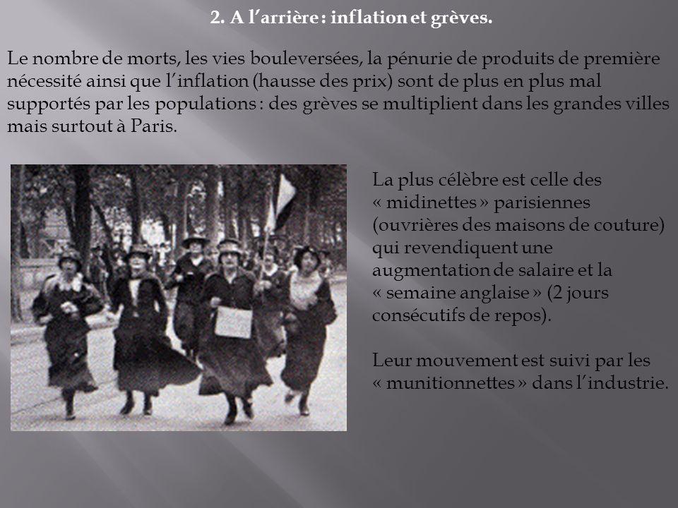 2. A l'arrière : inflation et grèves.
