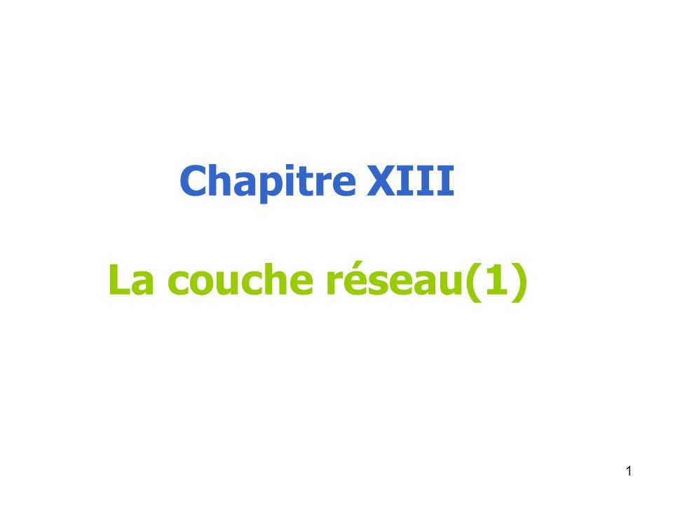 Chapitre XIII La couche réseau(1)
