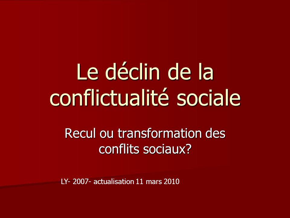 Le déclin de la conflictualité sociale
